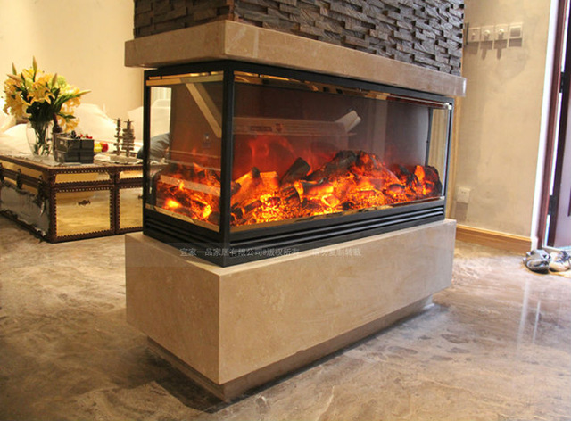 Free Standing Sided Electric Fireplace