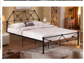 New model Bedroom Furniture wrought iron bed queen size metal bed