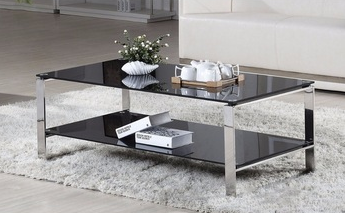 Wholesale 2018 Living Room Furniture Modern Stainless Steel Tea Glass Table Top