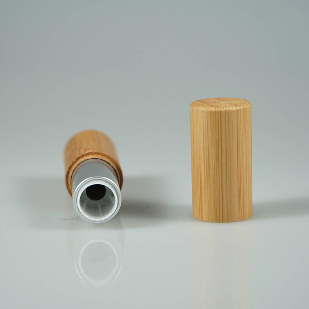 Mini lip balm bamboo tube , empty lip stick container for so