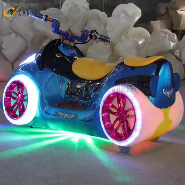 Motor bike bumper car for amusement park