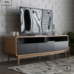 HOT sale Modern TV showcase Wooden Cabinet Living Room Furniture