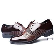 Lace Side Men Business Official Dress Shoes